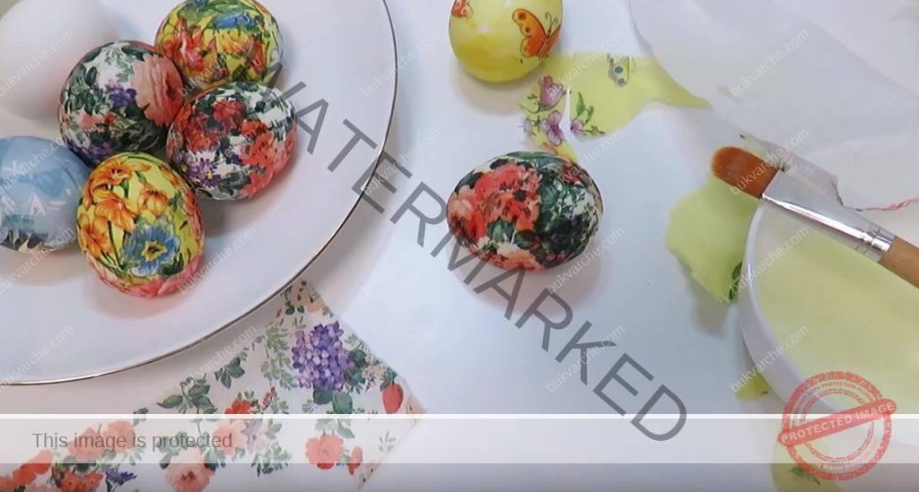 Декупаж на великденски яйца - всеки може да се справи