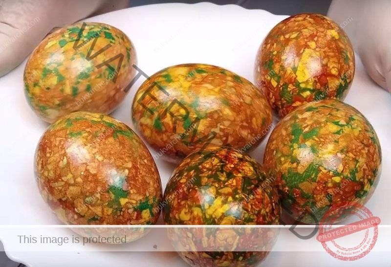 Шарени великденски яйца - 2 лесни начина за боядисване