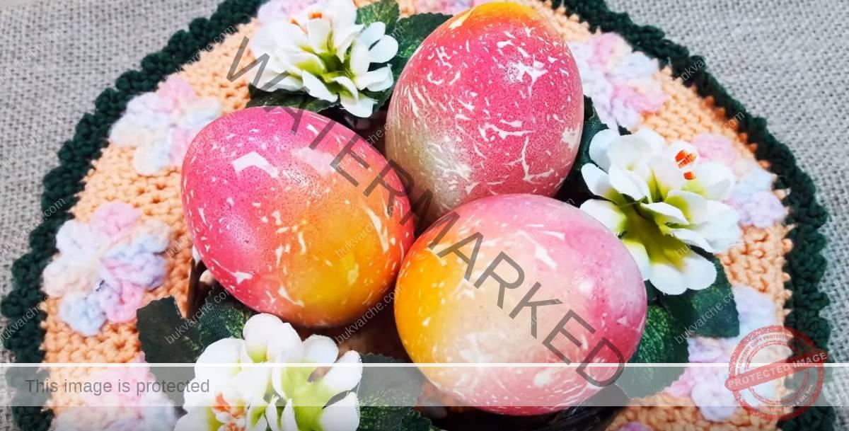 Мраморни яйца за Великден - ето какво ви е необходимо