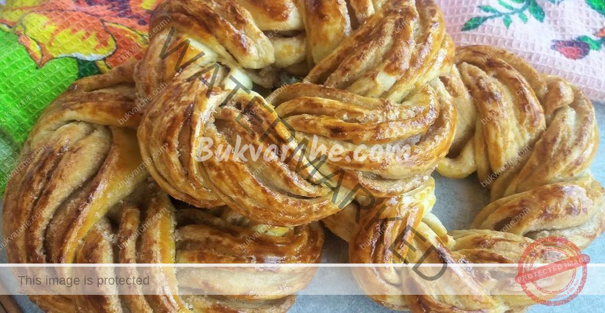Кифлички с халва и сушени кайсии - вкусно домашно печиво