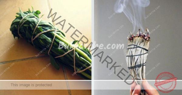 Опушване с билки за изчистване на негативната енергия