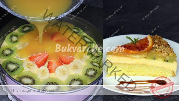 Плодова торта с нежен крем, подходяща за всяка трапеза