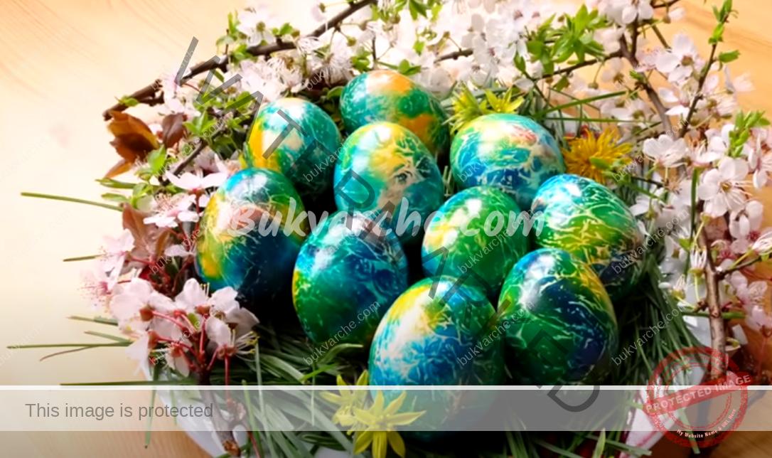 Пъстри великденски яйца. Ето как да ги получите