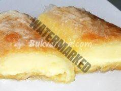 Сиропиран сладкиш с ванилов пудинг от готови кори. Топи се в устата
