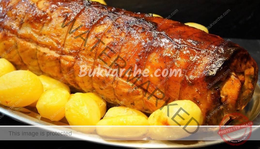 Свинско контрафиле на фурна с гарнитура от картофи