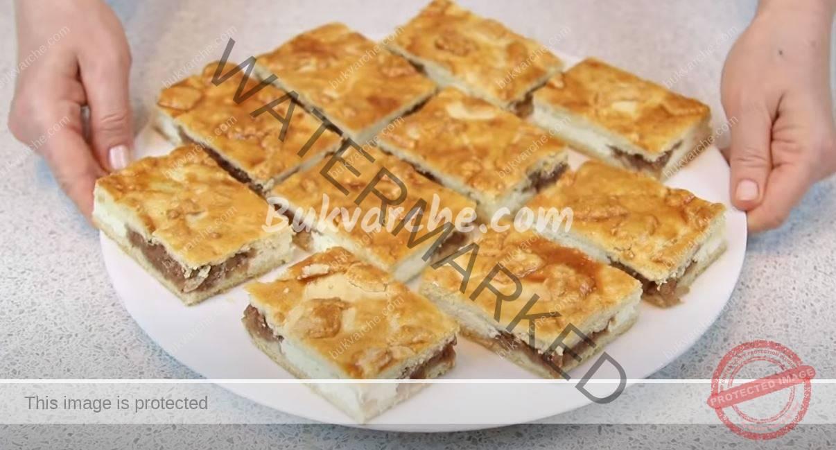 Шахматен ябълков сладкиш най-вкусната рецепта (2)