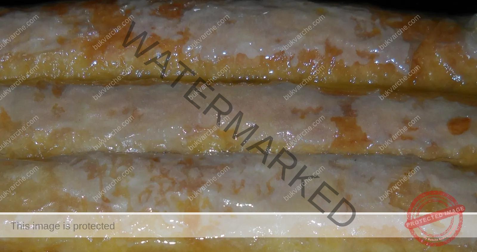 Руло с ванилов пудинг от готови кори. Топи се в устата