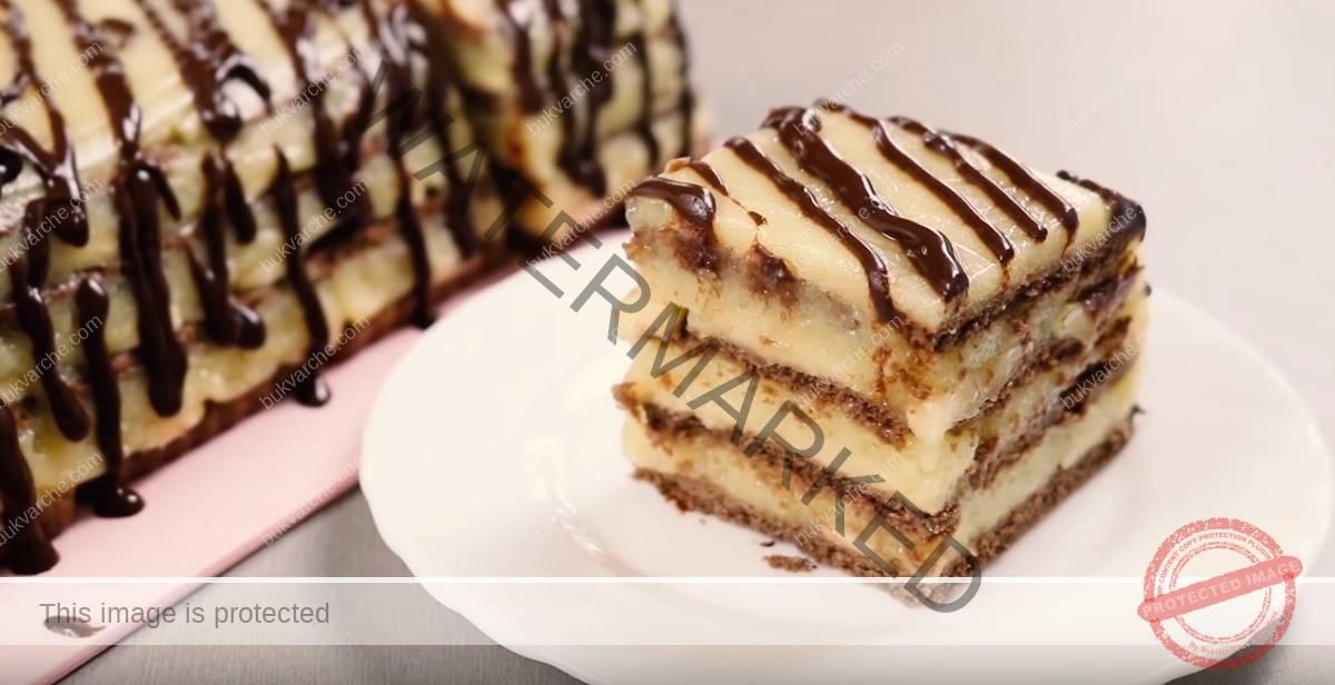 Торта с портокалов крем и бисквити - неустоим вкус