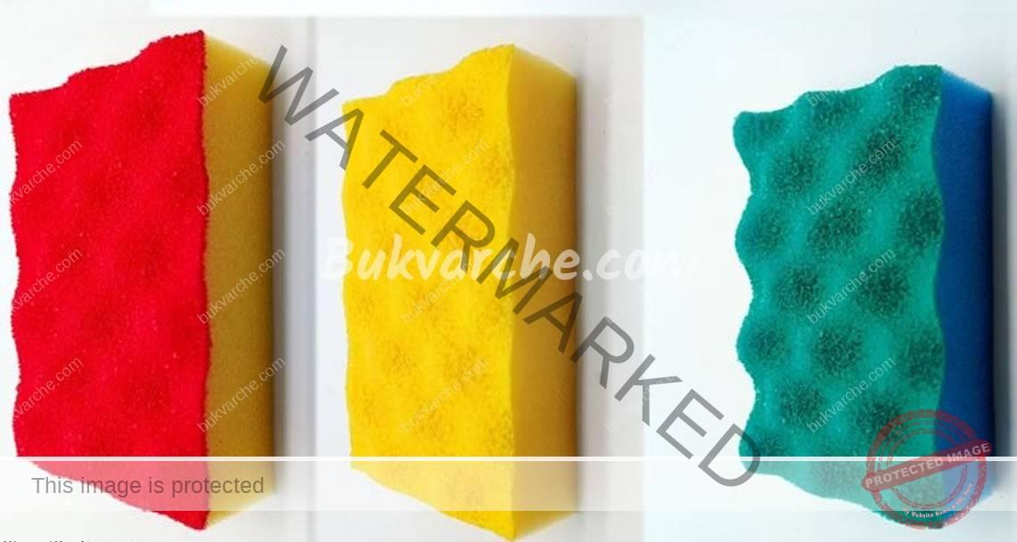Защо цветът на гъбите за миене е различен? Какво означава това?