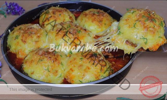 Гнезда с пълнеж от картофено пюре и кашкавал