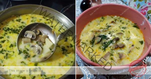 Домашна гъбена супа – кремообразна и ароматна
