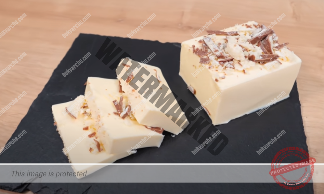 Млечен десерт с желатин, който има вкус на сладолед