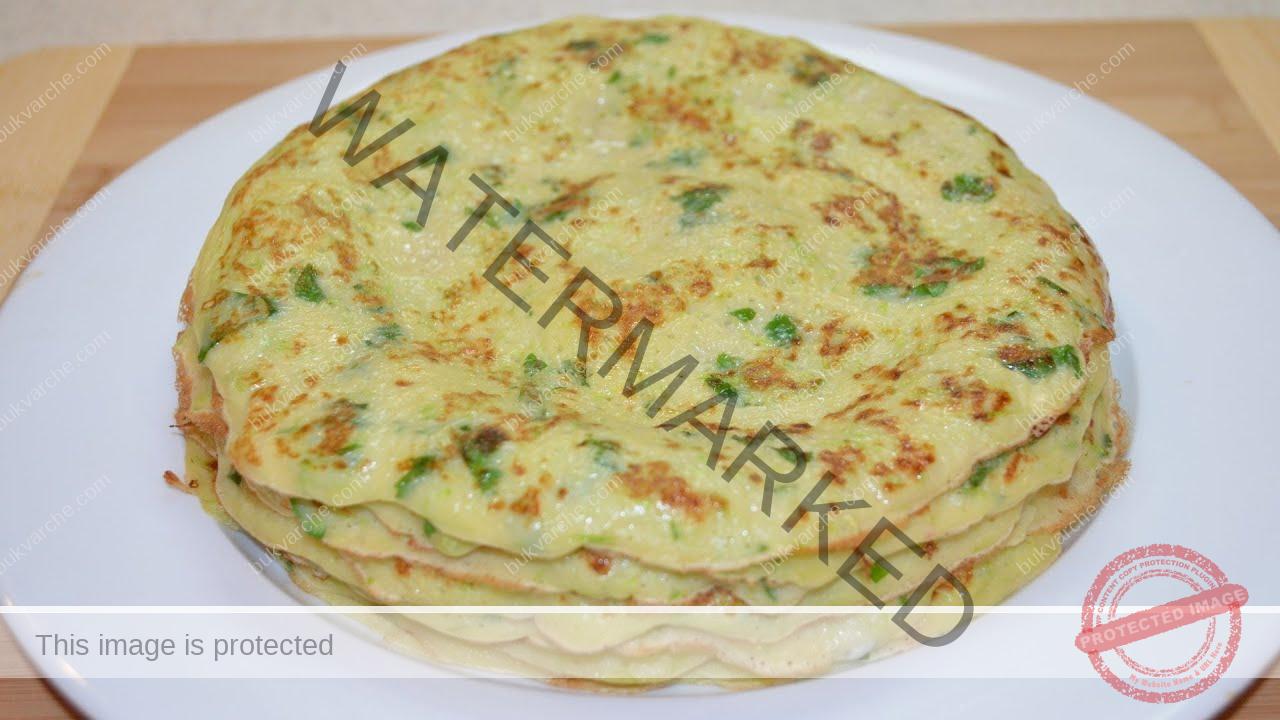 Палачинки от тиквички и зелен лук - идеални за закуска