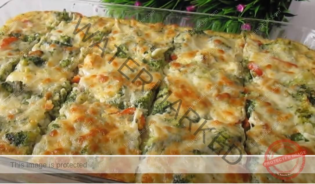 Печени броколи със заливка на фурна - отличен обяд за нула време