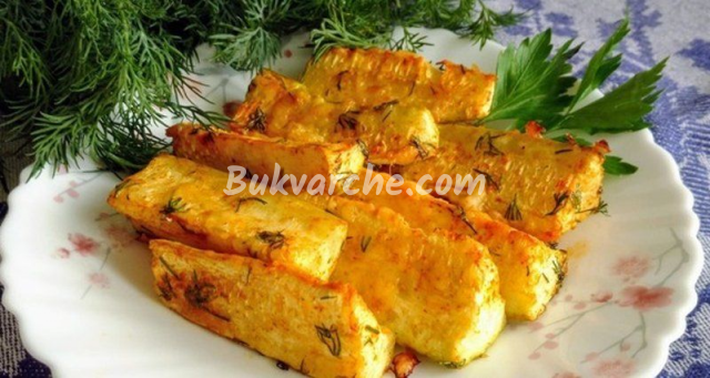 Печени пръчици от тиквички с кашкавал - хрупкави и вкусни