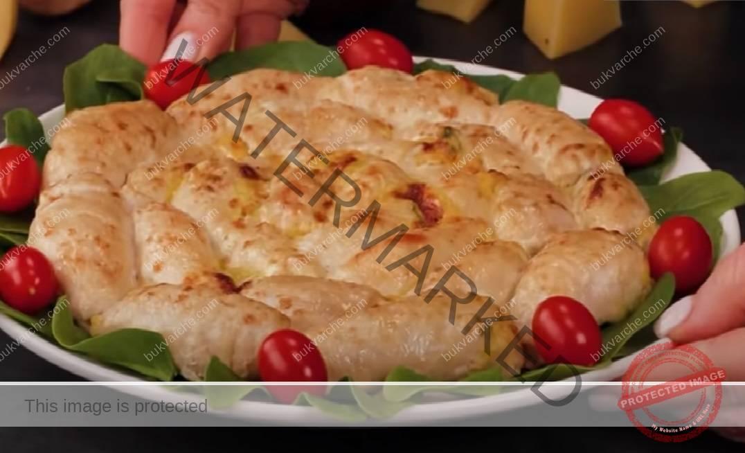 Пилешки рулца с кашкавал и топено сирен на фурна