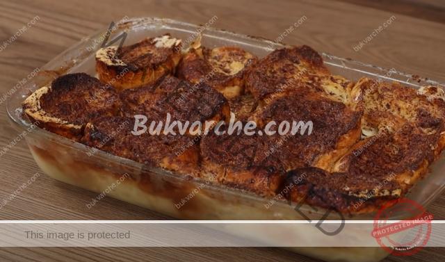 Сладкиш от хляб за малки и големи. Заливате и слагате да печете