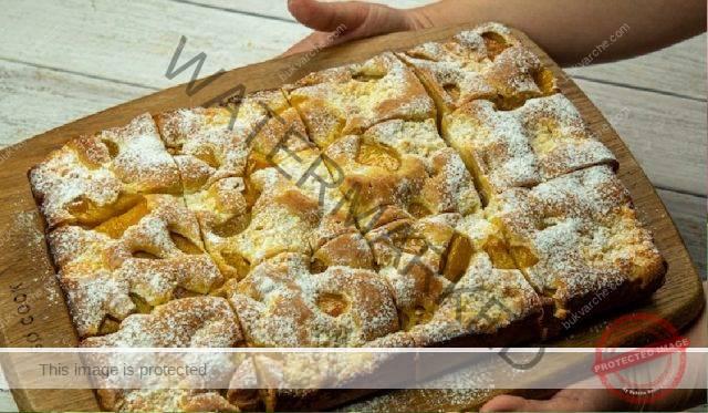 Сладкиш с рикота и праскови - нежен и пухкав десерт