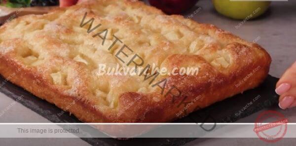 Ябълков сладкиш с ванилия, приготвен по нов начин