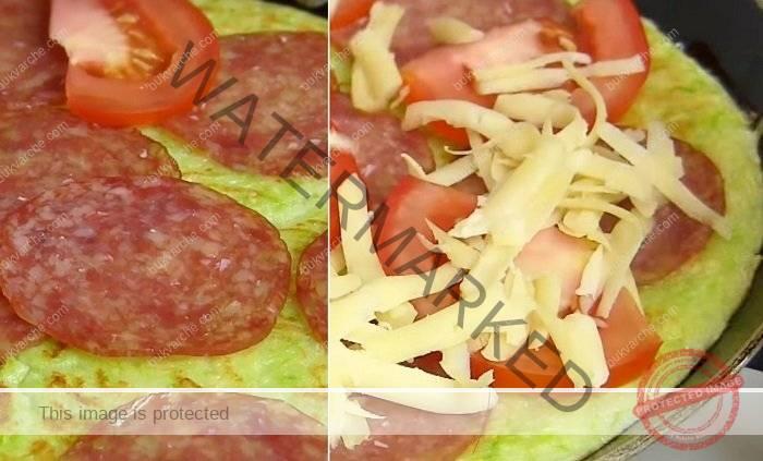Пица от тиквички на тиган - засищащо и леко лятно ястие