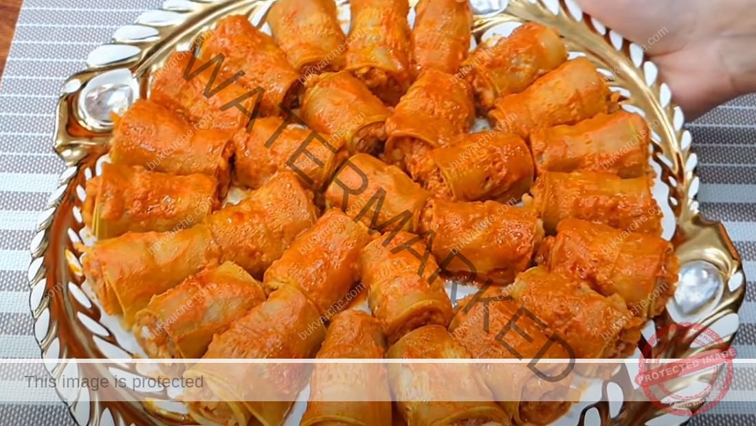 Летни рулца от тиквички с пълнеж от кайма и ориз