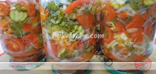 Зеленчукова салата за зимата - опитайте тази рецепта!