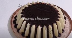 Кокосова торта без печене с какаови бисквити - нежен десерт