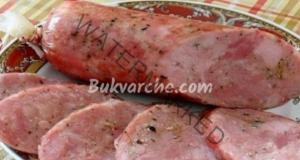 Рецепта за колбас от телешко и пилешко месо с мед