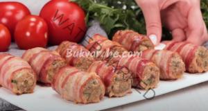 Рулца в бекон - сочно ястие за обяд или вечеря