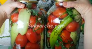 Мариновани домати за зимата с чесън и чушки. Фантастична рецепта