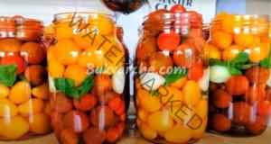 Мариновани домати с мед за зимата - сладко-кисели и красиви