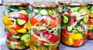Мариновани зеленчуци за зимата с леко пикантен вкус