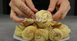 Сладки с извара под формата на мини рози. Лесна рецепта