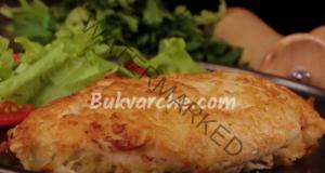 Пилешки гърди със сирене на тиган. Сочно и вкусно