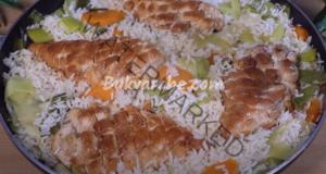 Пилешко със зеленчуци и ориз. Здравословно и вкусно