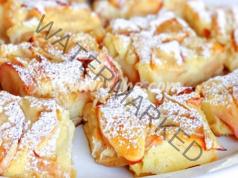 Ябълков пълнеж и малко тесто - най-лесната и сочна рецепта