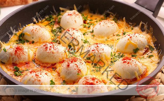 Ястие от яйца за закуска или вечеря. Лесна рецепта