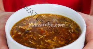 Пикантна пилешка супа с джинджифил и бамбук