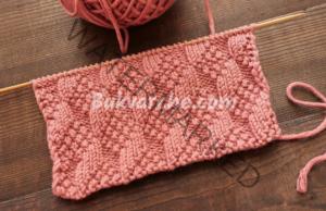 Релефна плетка за жилетки, пуловери и блузи