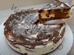 Шоколадов чийзкейк - приготвя се лесно и е много вкусен